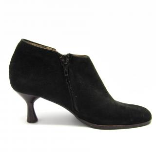 Charles Jourdan black suede ankle boots