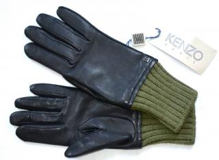 Kenzo Paris leather-wool gloves