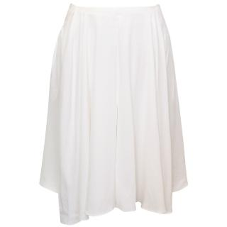 Vanessa Bruno White Silk Skirt