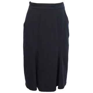 MaxMara Dark Navy Blue Skirt