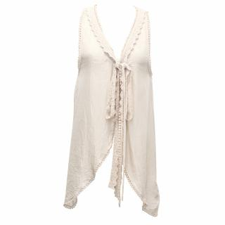 Day Beige Silk Vest Top