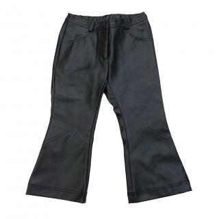 Dior kids unisex PU trousers age 2
