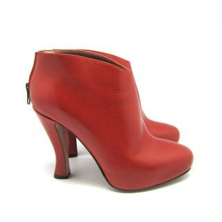 Red L'Autre Chose ankle boots