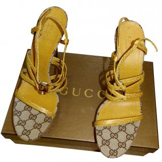 Gucci Yellow Sandals