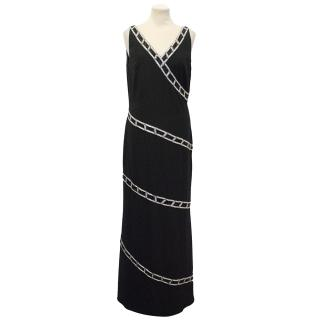 Bob Mackie Black Beaded Long Dress