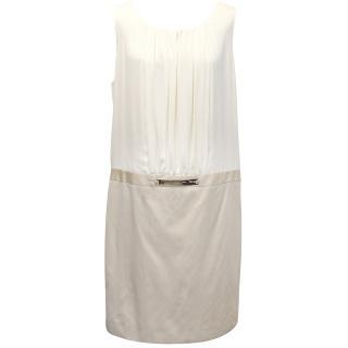 Gerard Darel Cream and Beige Dress