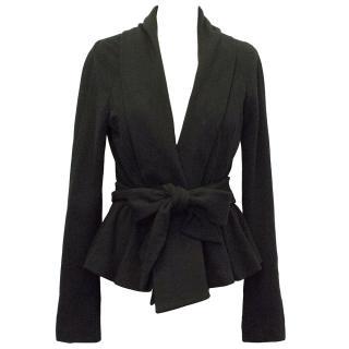 Diane Von Furstenberg Black Wrap Jacket