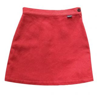PAUL SMITH Girl's Red Wool Skirt