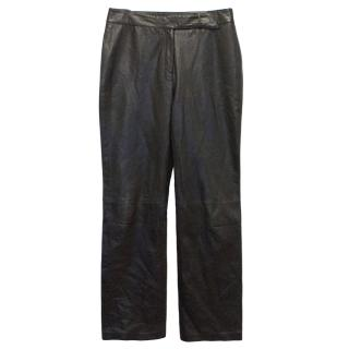 Mulberry Dark Brown Leather Trousers