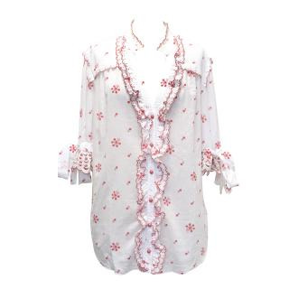 Alice by Temperley White Floral Print Top