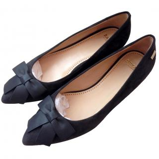 Bally Bow Suede Leather Flats