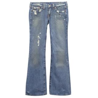 True Religion Blue Washed Jeans