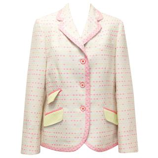 Vilagallo Beige and Neon Patterned Blazer