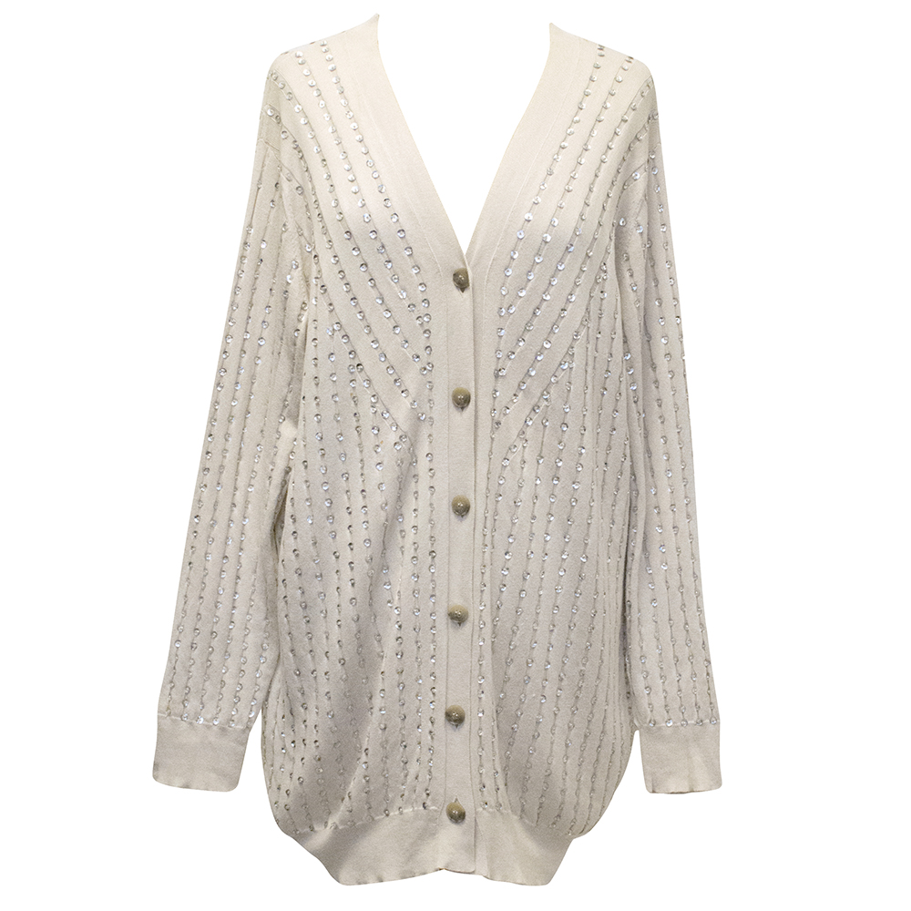 Stella McCartney Nude Cardigan with Sequins