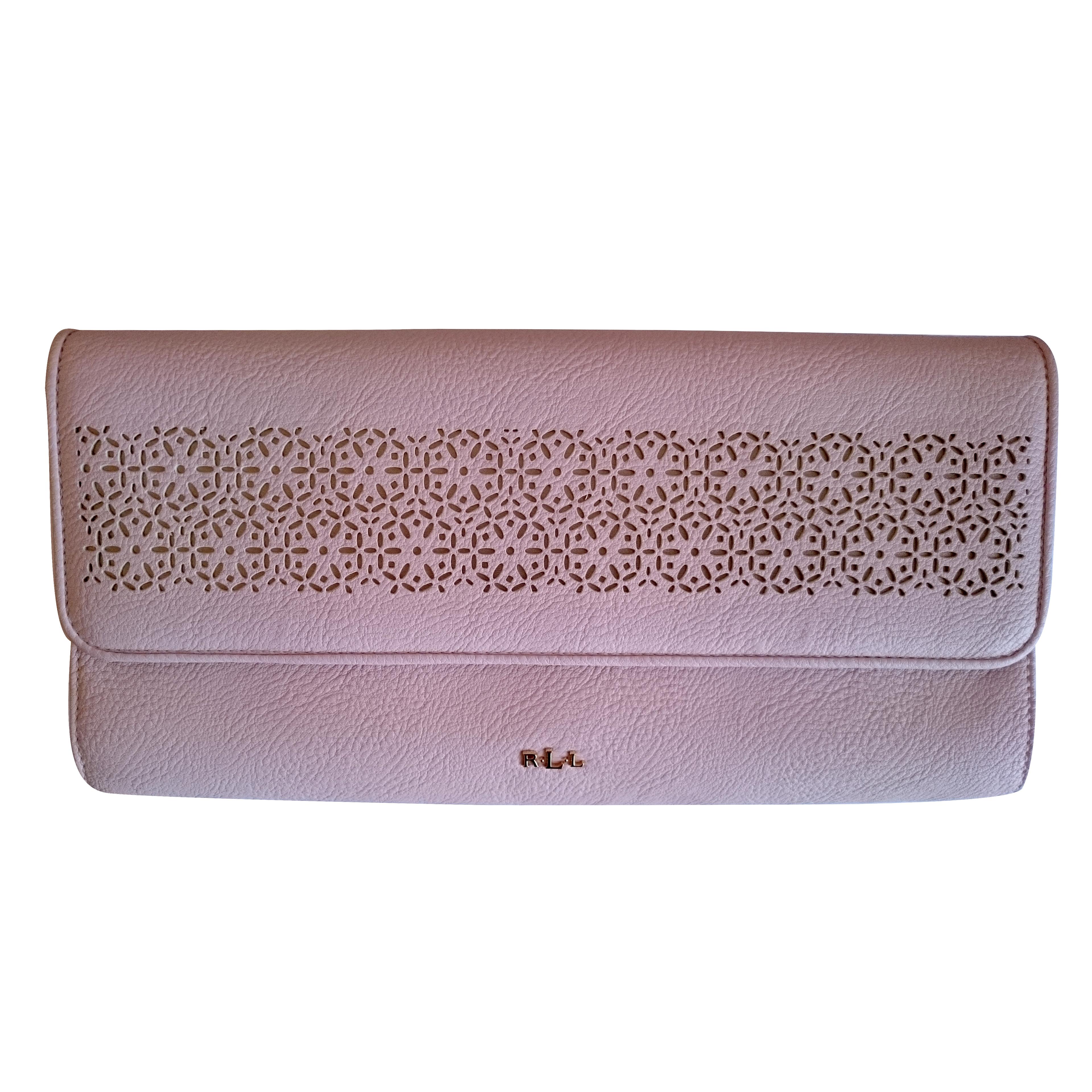 Ralph Lauren Envelope Clutch Ballet Slipper Pale Pink d1c65a8168249