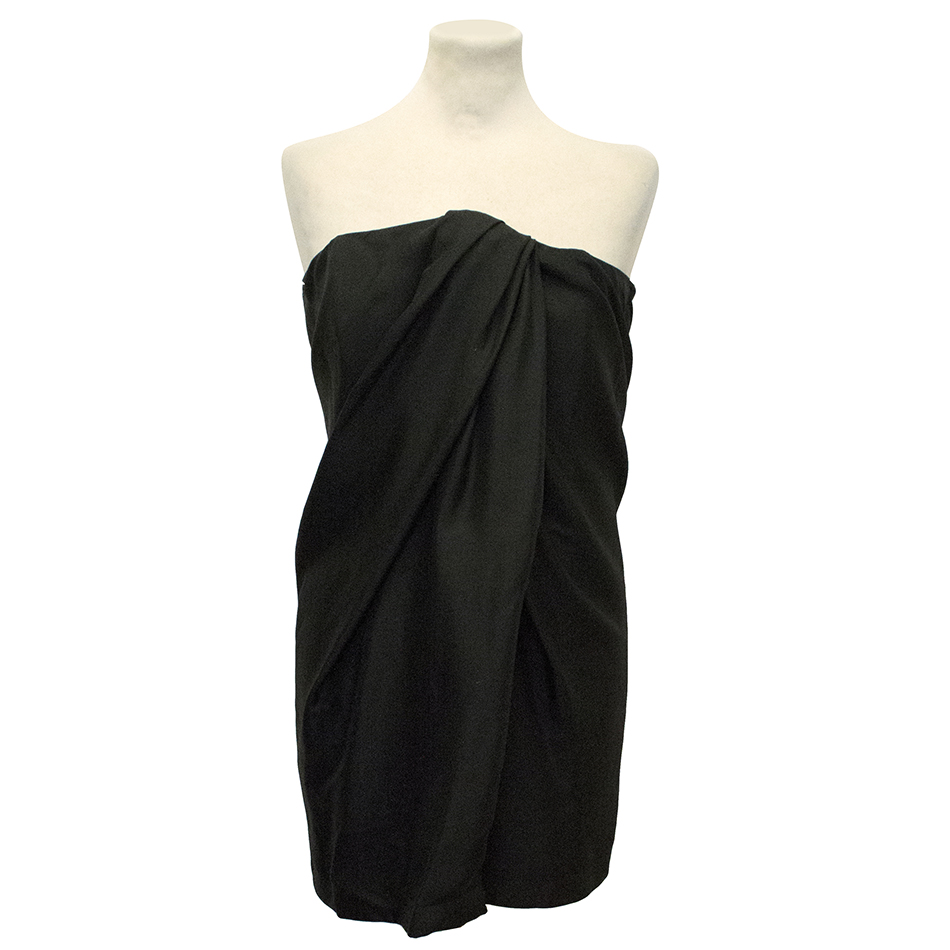 Jay Ahr Black Silk Sleeveless Dress