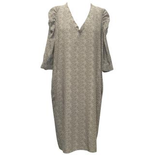 Nicole Farhi Black and White Patterned Dress