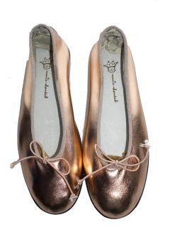 Marie Chantal Metallic Leather Ballet Flats