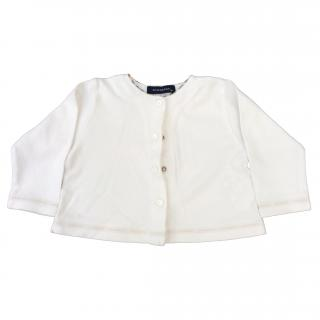 Burberry unisex cotton cardigan with Nova Check detail