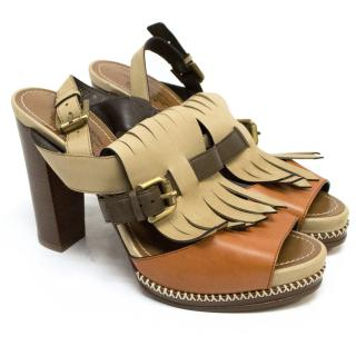 Santoni Rose Collection Brown Sandals