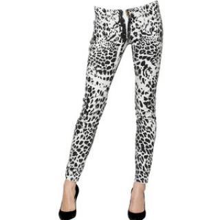 Pierre Balmain Leopard Print Skinny Jeans in Size 26