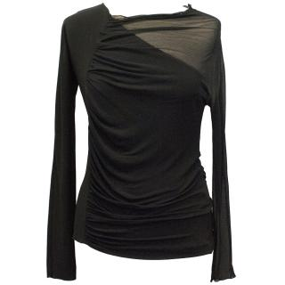 Loewe Black Top with Sheer Panels