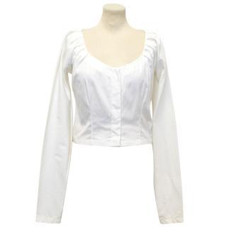 Gucci White Cropped Shirt