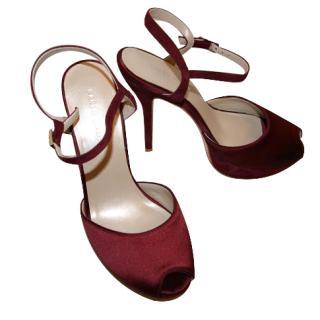 Karen Millen Burgundy Sandals