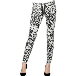 Pierre Balmain Leopard Print Skinny Jeans in Size 24