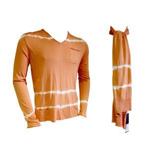 Falke tie dye sweater with matching scarf