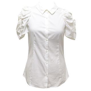 Miu Miu White Short Sleeve Shirt