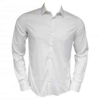 Falke mens cotton blend white fitted shirt