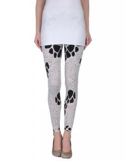 Pierre Balmain Leopard Print Woolen Leggings in Size 40 (UK 8)