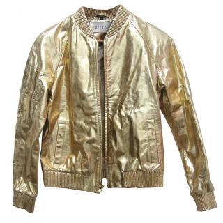 Claudie Pierlot Gold Leather Jacket (RPP �550.00)