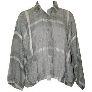 CREA concept lagenlook linen top, size 42