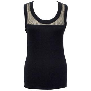 Amanda Wakeley Navy Sleeveless Top