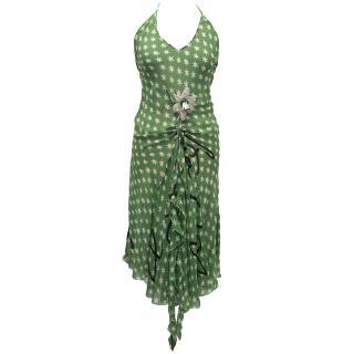 Sonia Rykiel Green Star Print Dress