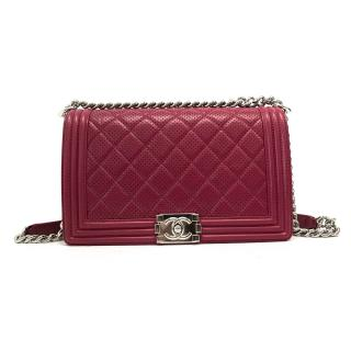 Chanel Boy Large Bag Cerise Red