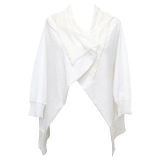 Liviana Conti White Open Front Cardigan