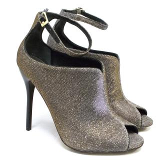 B Brian Atwood 'Leise' Metallic Peep Toe Booties