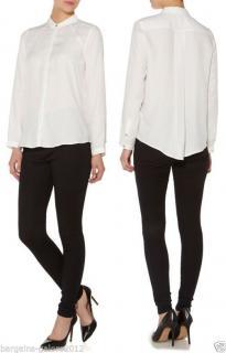Biba stunning ivory rococo pure silk blouse