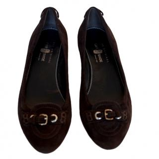 Car Shoe brown suede flats