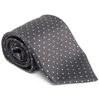 Zilli Charcoal Polka Dot Tie & Pocket Square
