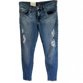 Nobody New Demin Skinny Ripped Jeans