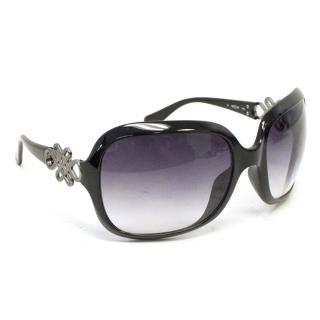 Diane von Furstenberg Black Sunglasses with Celtic Design