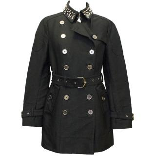 Sam Edelman Black Coat with Studded Collar