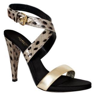 Giambattista Valli Crossover Sandals With Spot Print