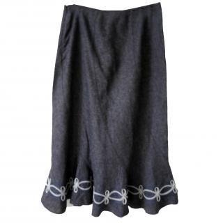laura ashley long length skirt white trim