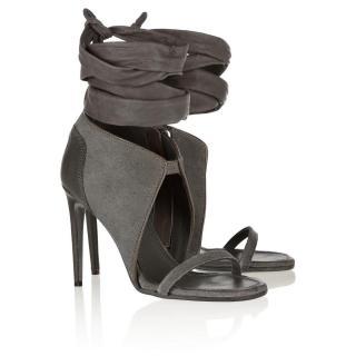 Rick Owens wrap-around heeled sandals