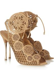 Nicholas Kirkwood Laser-cut leather sandals EU40.5 UK7.5 US10.5